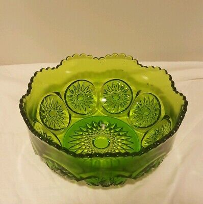 Vintage Mid Century Green Bowl Candy Dish
