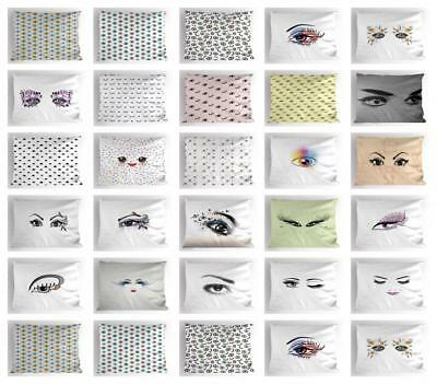 Eyelash Pillow Sham Decorative Pillowcase 3 Sizes Available
