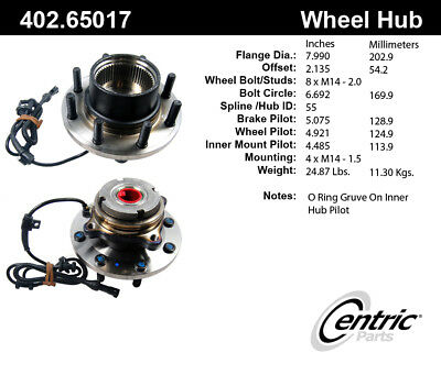 Axle Bearing and Hub Assembly-4 X 4 Front Centric 402.65017E