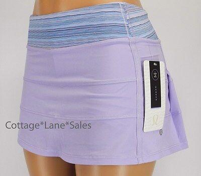 NEW LULULEMON Pace Rival Skirt REG 4 6 8 10 Lilac Wave Twist Caspian Blue Run