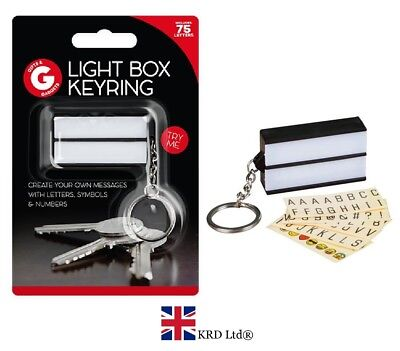 Light Up Ring Box (KEYRING LIGHTBOX Light Up Key Ring Cinematic White DIY Message Box Cinema Gift)