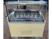 Gelato ice cream display freezer