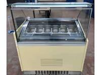 Geleto ice cream display freezer