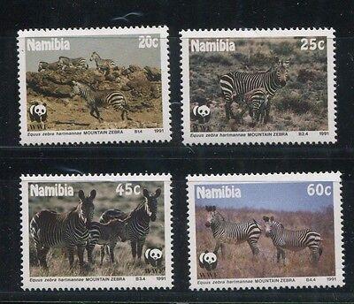 NAMIBIA  694 -97 VF, MNH MOUNTAIN ZEBRA  WWF  - S8122