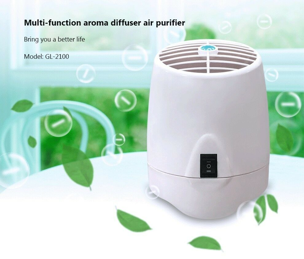 Fresh Air Home Office Ionic Purifier Ionizer Ozone Generator with Aroma Diffuser