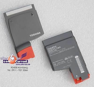 ISDN CARD KARTE TOSHIBA GLOBAL PORT PX1011E-1NCO XIRCOM PCMCIA CARDBUS #K891 MM