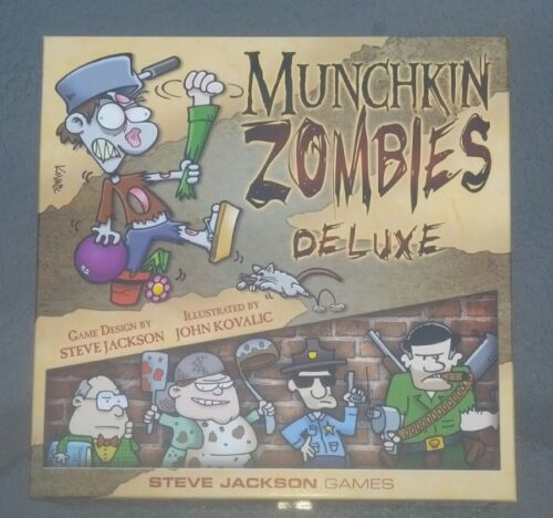 munchkin zombie deluxe game steve jackson games first edition first printing