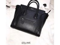 Celine luggage mini bag in original black