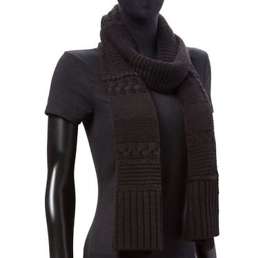 Ugg Wool Blend Cable Knit Rectangular Scarf for sale  Roselle