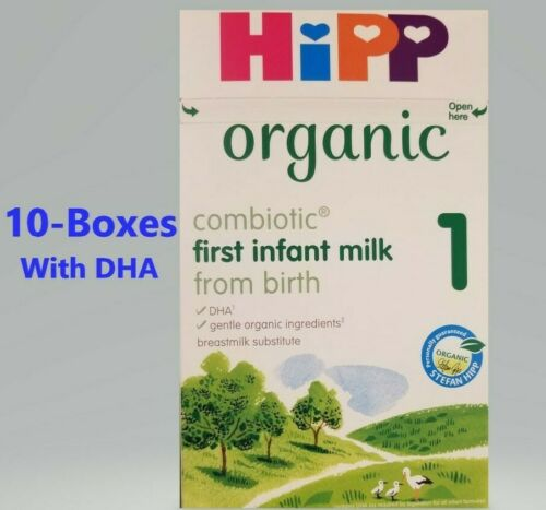 *10-Boxs-HiPP-UK Version Stage-1 800g-Organic-Combiotic-First-Infant-Milk