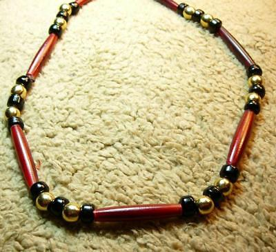 Native American Indian - ***Man Beads!!!***  Long Red Buffalo Bone (Native American Indian Buffalo)