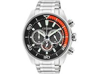 Citizen Eco Drive Chronograph Watch CA4330-57E Stainless Steel New Boxed