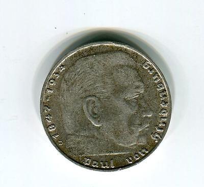 Münzen Deutsches Reich 1937 2 Mark Hindenburg D
