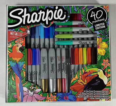 Sharpie Permanent Markers Limited Edition Set 40 Count With Metallic Colors.