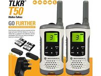 Motorola TLKR T50 UK Licence Free 446MHz Walkie Talkies (1 Pair)