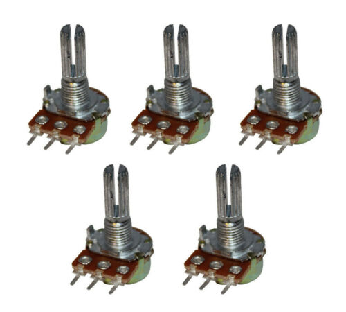 5Pcs B1K B2K B5K B10K B50K B100K 10K Ohm Potentiometer Linear WH148 20mm SHAFT