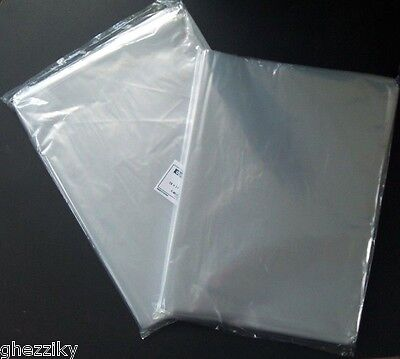 Multiple Sizes Clear Poly Bags 1Mil Flat Open Top Plastic Packaging Packing (Flat Poly Bags)