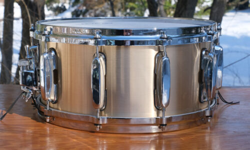 Bell Brass 3mm Cast 6.5x14'' Snare Drum With Tama Hardware Gorgeous! Excellent