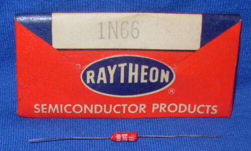 NOS / NIB Early Red Raytheon 1N66 Diode