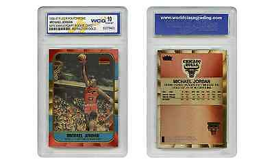 Polychrome Refractor Gold Michael Jordan Fleer ROOKIE CARD - Graded GEM-MINT 10
