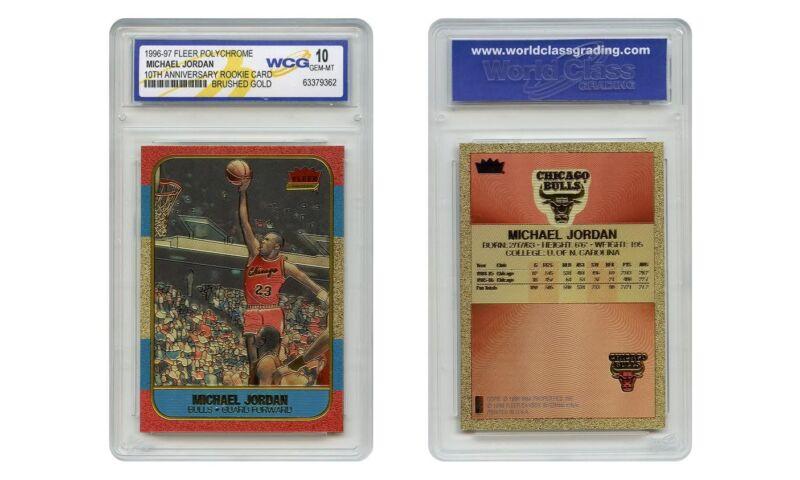 Polychrome Brushed Refractor Gold Michael Jordan Fleer Rookie Card - Gem-mint 10