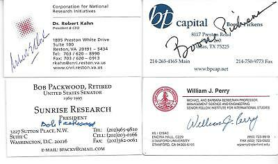T  Boone Pickens Legendary Business Magnate Bp Capital Signed Business Card