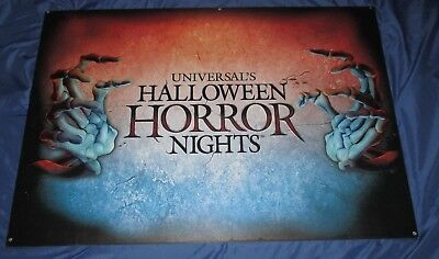 HALLOWEEN HORROR NIGHTS Universal Studios Theme Park Metal Prop Sign  ~2017