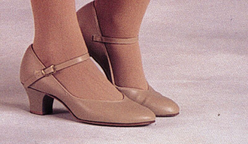 """Character Shoes ch/ladies Tan #3504 Leathersole 1.5"""" heel Musical theater"""
