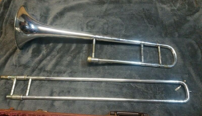 MOUNT VERNON Vincent Bach Model 16 Trombone Silver Plated