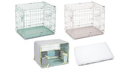 Puppy Bench 2 Doors Gitterbox für Hunde Welpen Gitterkäfig Wurfbox Transportbox Hundebox Für 2 Hunde
