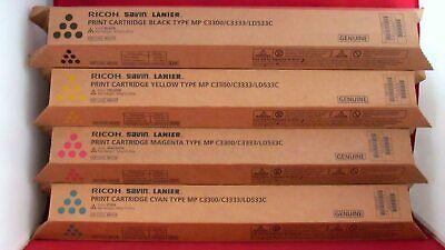 4 Ricoh Oem Toner Set Type Mp C3300 C3333 Ld533c Cyan Magenta Yellow Black Savin