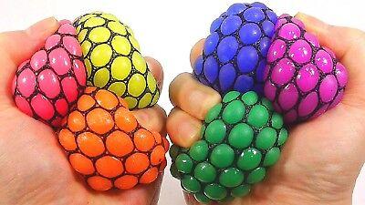 MESH BALLS SPLAT BALLS Squishy Squeeze Sticky Stress Grape Toy Pink Clear Blue  - Splat Toy