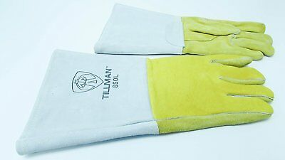 Tillman 850l 14 Top Grain Elk Cottonfoam Lined Welders Gloves Large