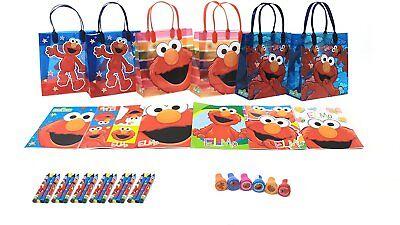 Elmo Bags (6 sets 42 Pcs Birthday party supplies Sesame Street Elmo Party Favor goody)