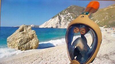 Diving Mask FULL FACE Snorkel Blue - Best