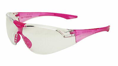 Delta Plus Avion Slim Fit Kids Safetyshooting Glasses Clear Lenspink