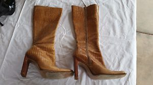 Leather Knee High Boots Shoes Owen Wakefield Area Preview