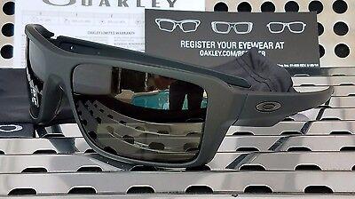 New Oakley 9380-0166 DOUBLE EDGE Sunglasses Matte Black/Dark Gray (Oakley Double Lens Sunglasses)