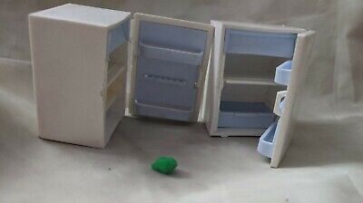 VINTAGE 1970's LUNDBY BARTON DOLLS HOUSE FRIDGE x2 retro