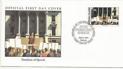 Army FDC's  - Marshall Isles - Freedom of Speech - 1991  (3300) (X)