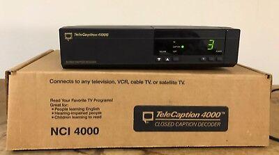 TeleCaption 4000 Closed Caption Decoder 4000 In Original Box Closed Captioned Decoder