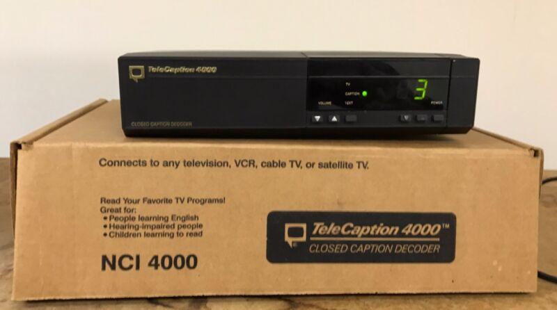 TeleCaption 4000 Closed Caption Decoder 4000 In Original Box