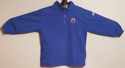 NCAA - VINTAGE KENTUCKY WILDCATS QUARTER ZIP FLEECE PULLOVER BLUE - YOUTH BOYS L