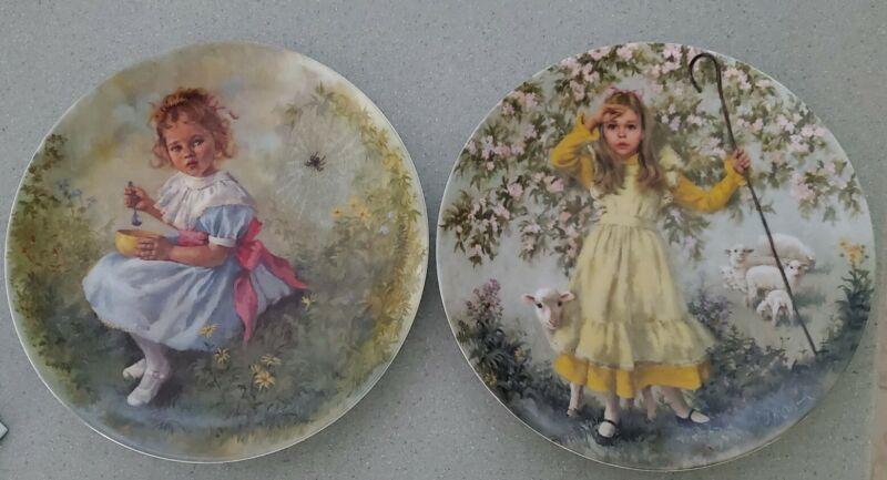 "1983 ""Little Miss Muffet"" & ""Little Bo Peep"" Plates, John McClelland (Lot of 2)"