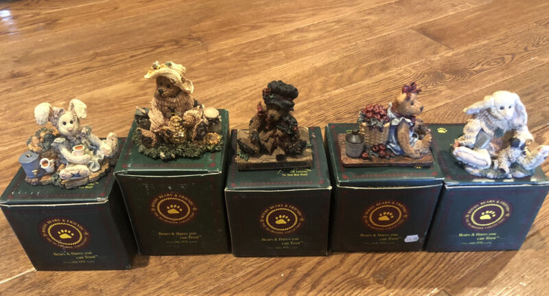 Lot Of 5 Boyds Bears & Friends Figurines Used