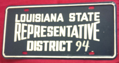 1972 LOUISIANA STATE REPRESENTATIVE DISTRICT 94 LICENSE PLATE