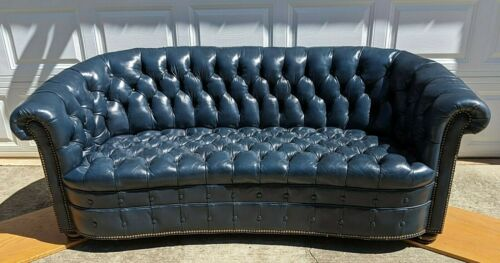 8476 HANCOCK & MOORE Tufted Leather Chesterfield Sofa ~ UPDATED INFORMATION