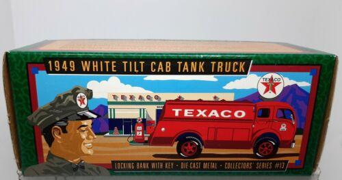 1996 TEXACO 1949 WHITE TILT CAB TANK TRUCK BANK #13 - New