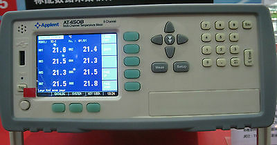 8 Channels Temperature Meter Thermocouple Jktesn Tester Rs232c Usb At4508