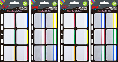 4a Durable File Tabs Note Tabs 1.5 X 2 Index Label Tabs Total 120 Tabs 4a 6043